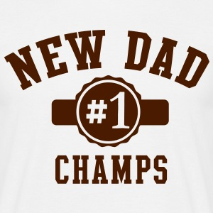 NEW DAD CHAMPS No1 T-Shirt BK - Men's T-Shirt