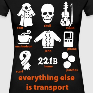 Everything else is transport: Sherlock T-Shirt - Women's Premium T-Shirt