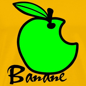 Apple Banana / Apple Artwork T-shirts - Mannen Premium T-shirt