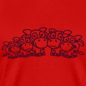 cow_family_with_boy_and_two_girls_1c T-shirts - Herre premium T-shirt