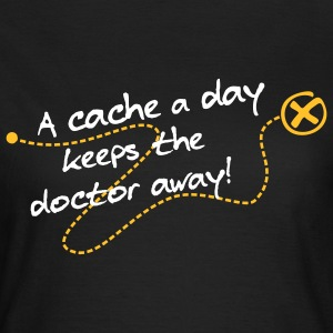 Geocaching A cache a day Tracks - Frauen T-Shirt