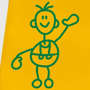 happy_stick_figure_1c T-shirts - Dame premium T-shirt