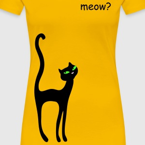 Retro Kittenish Cat by Patjila T-shirts - Vrouwen Premium T-shirt