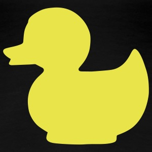 rubber duck  sign T-Shirts - Women's Premium T-Shirt