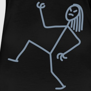 air_guitar_stick_figure_1c T-shirts - Premium-T-shirt dam