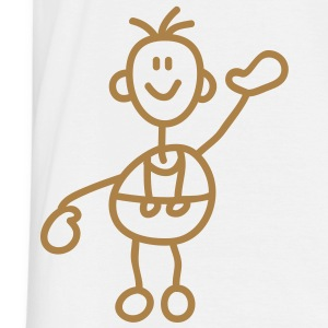 happy_stick_figure_1c T-skjorter - T-skjorte for menn