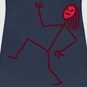 air_guitar_stick_figure_2c T-shirts - Premium-T-shirt dam