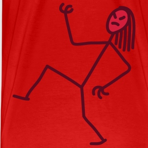 air_guitar_stick_figure_2c Camisetas - Camiseta premium hombre