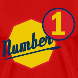number 1 h - T-shirt Premium Homme
