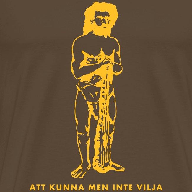 T-shirt herr med tryck fram.