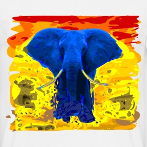Afro Blue Elefant - sunset - Men's T-Shirt