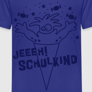 Schultüten Monster 1C Kinder T-Shirts - Teenager Premium T-Shirt