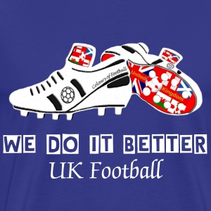 United Kingdom white football boot union jack design - Men's Premium T-Shirt