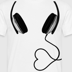 headphone with heart T-Shirts - Männer T-Shirt