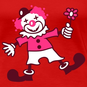 A funny clown with a flower  T-Shirts - Women's Premium T-Shirt