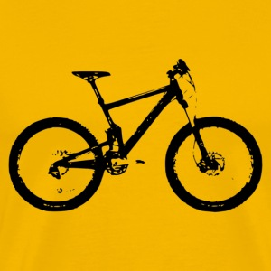 Mountain bike - Premium T-skjorte for menn