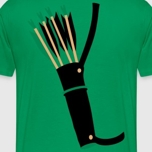 quiver archery arrow equipment by patjila T-Shirts - Men's Premium T-Shirt