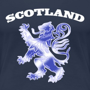 Scotland with Lion Rampant and Saltire Flag - Women's Premium T-Shirt