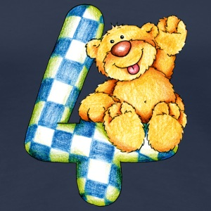Sweet little bear and the 4 T-shirts - Dame premium T-shirt