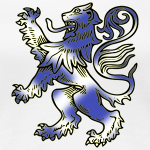 Scottish Lion Rampant with Saltire Flag - Women's Premium T-Shirt