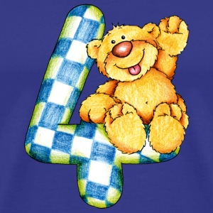 Sweet little bear and the 4 T-shirts - Herre premium T-shirt