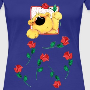 The bear and roses T-shirts - Dame premium T-shirt