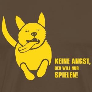 Hund keine angst will nur spielen Herrchen Frauchen Mops crazy dog verrückt zunge hundeshirt tiershi