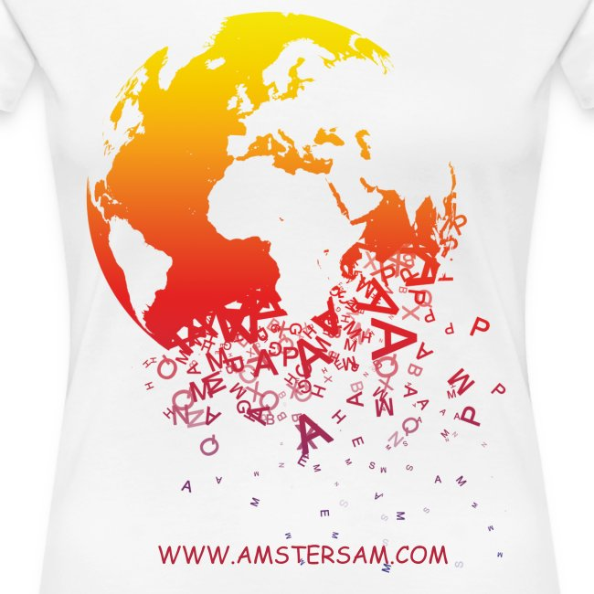 Women's Girlie Shirt 'The World' White/Red