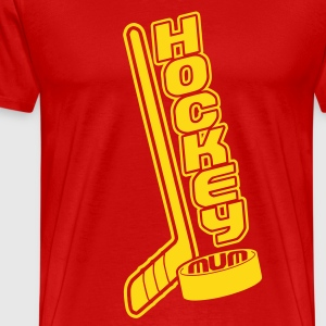 Hockey Mum, Stick & Puck T-Shirts - Men's Premium T-Shirt