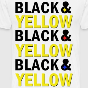 BLACK & YELLOW - Männer Premium T-Shirt