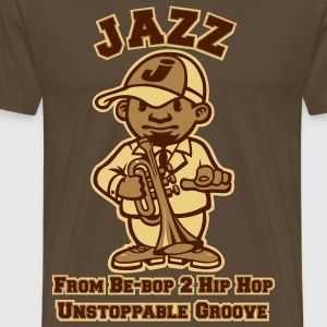 Jazz tribute marron - T-shirt Premium Homme