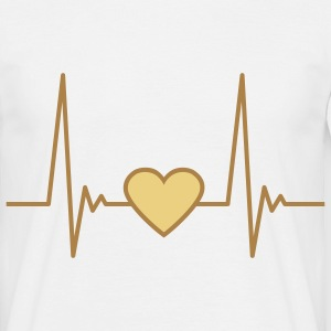 heart_pulse_2c T-shirts - T-shirt herr