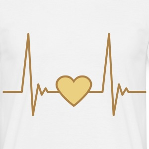 heart_pulse_2c T-skjorter - T-skjorte for menn