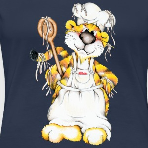 The tiger is cooking spaghetti T-Shirts - Women's Premium T-Shirt