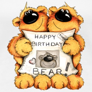 Happy Birthday, Bear T-shirts - Dame premium T-shirt
