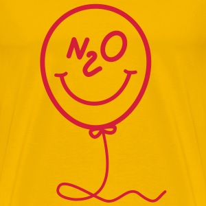Lachgas - Ballon - Smiley T-shirts - Mannen Premium T-shirt