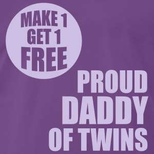 MAKE 1 GET 1 FREE T-Shirt - Proud Daddy of Twins lave - Men's Premium T-Shirt