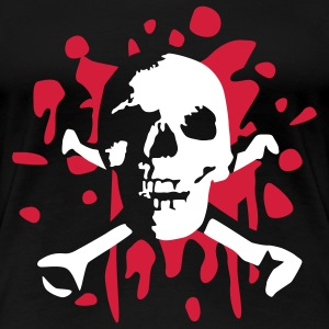 skull_and_blood_072011_a_2c T-shirts - Vrouwen Premium T-shirt