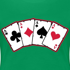 cards poker T-Shirts - Frauen Premium T-Shirt
