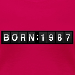born1987 T-Shirts - Frauen Premium T-Shirt