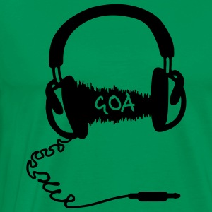 Headphones Audio Wave Motif: GOA  T-Shirts - Men's Premium T-Shirt