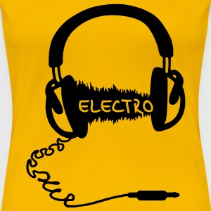 Headphones Kopfhörer Audio Wave Electro Elektro Musik Audiophil  - Frauen Premium T-Shirt