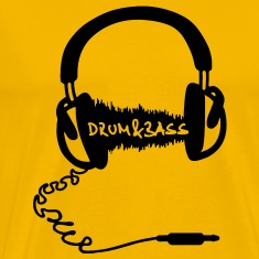 Headphones Audio Wave Motif: Drum & Bass Electronic Music  D N' B Drum n' Bass Drum&Bass T-Shirts