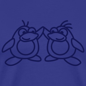 2_penguins_1c T-Shirts - Men's Premium T-Shirt