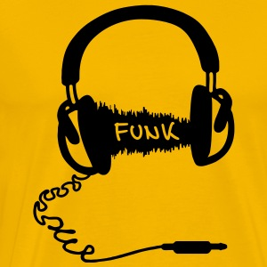 Headphones Audio Wave Design: Funk Musik T-Shirts - Men's Premium T-Shirt