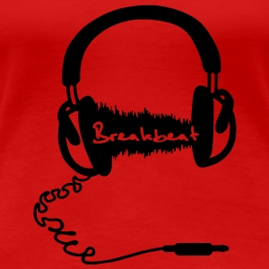 Headphones Headphones Audio Wave Motif: Breakbeat  T-Shirts - Women's Premium T-Shirt