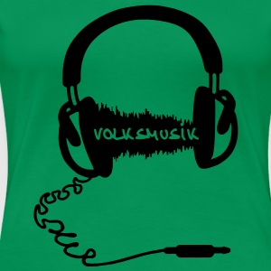 Headphones Audio Wave folk music  Volksmusik T-Shirts - Women's Premium T-Shirt