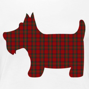 Scottie Dog in Royal Stewart Tartan - Women's Premium T-Shirt