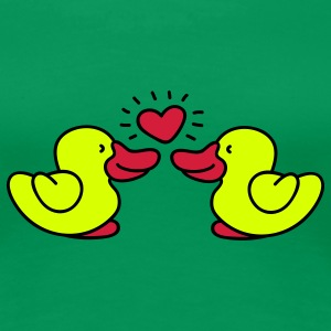 two lovin' ducks T-skjorter - Premium T-skjorte for kvinner
