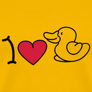 I love ducks T-Shirts - Men's Premium T-Shirt